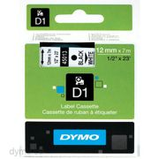 DYMO D1 12mm 1pk, Sort/Hvit
