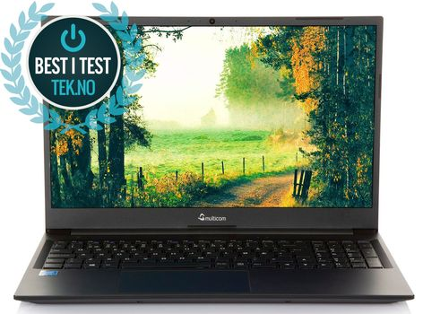 "Multicom Xishan NL50 15.6"" testvinner TEK.no bærbar PC med Windows 10 Home ferdig installert"
