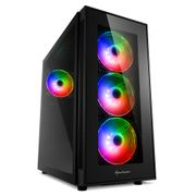 Sharkoon TG5 Pro aRGB ATX_Case Glass panel, 4x 120 mm addressable RGB LED fans