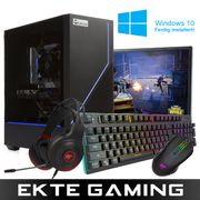Multicom Flow A510R Gaming-PC-pakke med skjerm, tastatur, headset, mus, musematte og Windows 10 Home