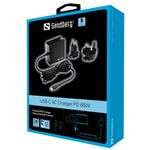 Sandberg USB-C PD AC-Charger 65W EU+UK (135-72)