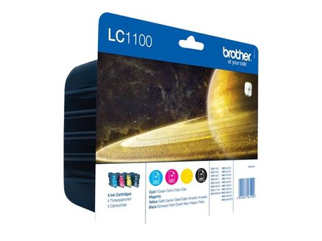 Brother LC1100 Value Pack - 4-pack - svart, gul, cyan, magenta - original - blekkpatron