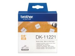 Brother DK-11221 - merkelapper - 1000 etikett(er) - 23 x 23 mm