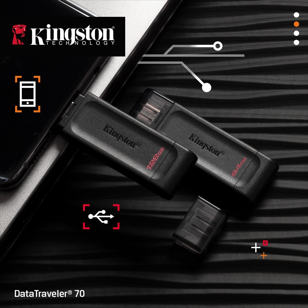 Kingston DataTraveler 70 USB-C-minnepinne 128GB (DT70/128GB)
