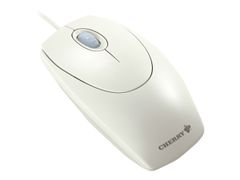 Cherry WheelMouse M-5400 - mus - PS/2, USB - hvit/grå