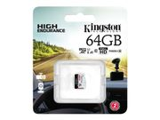 Kingston High Endurance 64GB microSD UHS-I U1 Speed Class 10 A1 (SDCE/64GB)