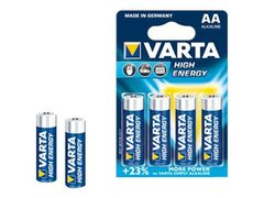 VARTA High Energy batteri - 4 x AA-type - Alkalisk