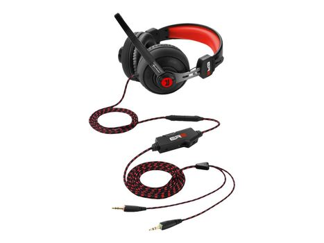 Sharkoon RUSH ER2 Rødt Gaming-headset (4044951018246)