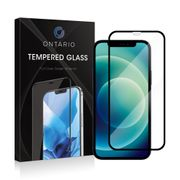 Ontario pansret glass iPhone 12 og 12 Pro - Svart, herdet glass