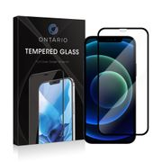Ontario pansret glass iPhone 12 Pro Max - Svart, herdet glass