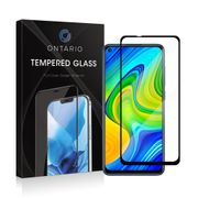 Ontario pansret glass Xiaomi Redmi Note 9 - Svart, herdet glass