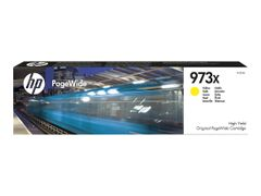 HP 973X - Høy ytelse - gul - original - PageWide - blekkpatron - for PageWide Managed MFP P57750, P55250; PageWide Pro 452, 477