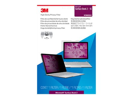"""3M High Clarity Privacy Filter for Microsoft Surface Book 2 – 15"""" bærbar datamaskin - notebookpersonvernsfilter (HCNMS004)"""