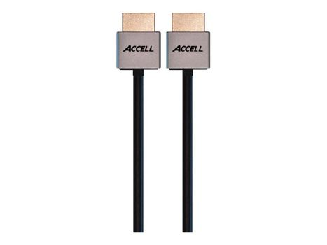 ACCELL ProUltra Thin High Speed HDMI Cable with Ethernet - HDMI med Ethernet-kabel - 2 m (B145C-007B)