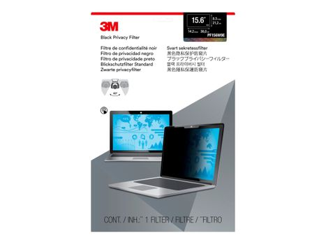 """3M personvernfilter for 15.6"""" Laptops 16:9 with COMPLY - notebookpersonvernsfilter (PF156W9E)"""