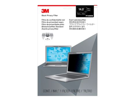 """3M personvernfilter for 14"""" Laptops 16:9 with COMPLY - notebookpersonvernsfilter (PF140W9B)"""