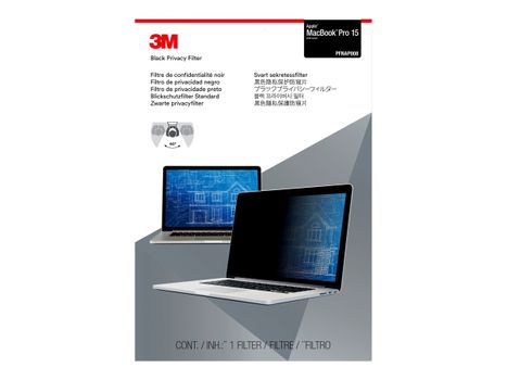 """3M personvernfilter for MacBook Pro (2016-2021) 15.4"""" Laptops 16:10 with COMPLY - notebookpersonvernsfilter (PFNAP008)"""