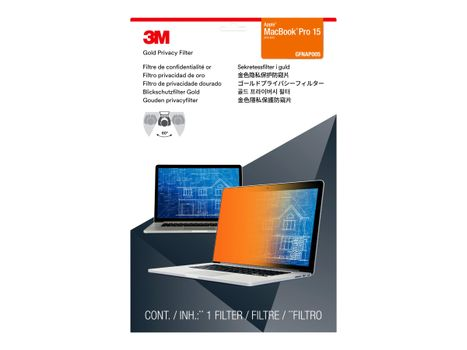 """3M personvernfilter i gull for MacBook Pro 15.4"""" Laptops 16:10 - notebookpersonvernsfilter (GFNAP005)"""