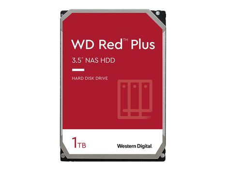 """WD Red NAS Hard Drive WD10EFRX - Harddisk - 1 TB - intern - 3.5"""" - SATA 6Gb/s - buffer: 64 MB - for My Cloud EX2; EX4 (WD10EFRX)"""