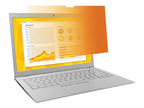 """3M personvernfilter i gull for 12.5"""" Laptop with COMPLY Attachment System - notebookpersonvernsfilter (7100207030)"""