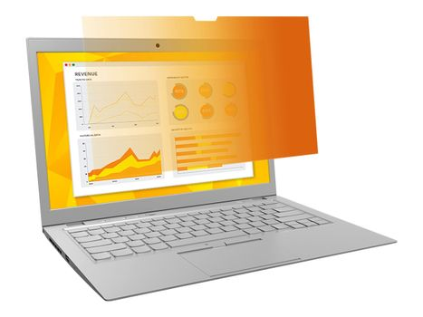 """3M personvernfilter i gull for 13.3"""" Laptop with COMPLY Attachment System - notebookpersonvernsfilter (7100207024)"""