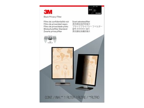 """3M personvernfilter for 21.5"""" Monitors 16:9 - personvernfilter for skjerm - 21,5"""" bredde (PF215W9P)"""
