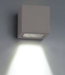 BA Vegglys - Utendørs, LED, 100X100X100mm, Sort (BA65-W3A0018-S)