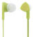 STREETZ in-ear headset, 1-button remote, 3.5mm, microphone,  lime green