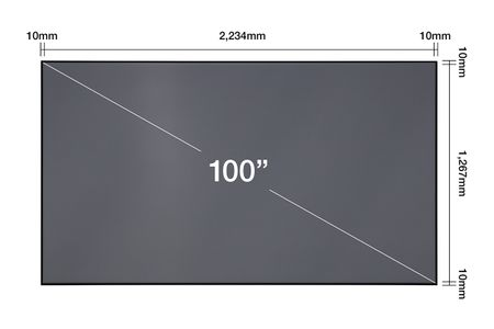 "EPSON Laser TV 100"" Screen - ELPSC35 (V12H002AD0)"