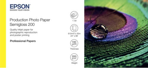 "EPSON Paper/ Photo Paper Semigloss 200 24""x30m (C13S450376)"