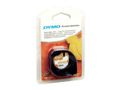 DYMO LETRATAG TAPE IRON-ON BLACK F-FEEDS