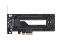 ICY DOCK 1 x M.2 NVMe SSD till PCIe 3.0 x4-adapter