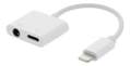 EPZI Lightning to 3,5 mm adapter, supports charging and music, white