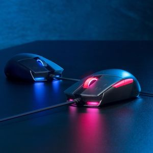 ASUS ROG STRIX Impact II ELECTRO PUNK Gaming Mouse (90MP01U0-BMUA00)