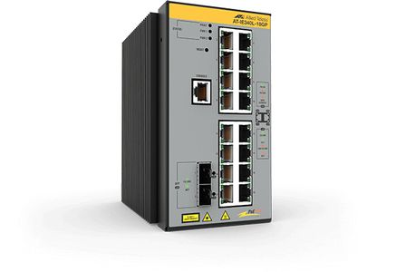 Allied Telesis L3 INDUSTRIAL ETHERNET SWITCH 16X10/ 100/ 1000-T POE+ 2XSFP PORT (AT-IE340L-18GP-80)