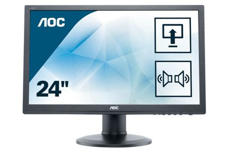 AOC 61,0cm (24)  e2460Pda  16:09 DVI LED black Lift Spk.2ms (e2460Pda)
