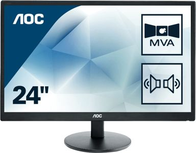"AOC Value M2470SWDA2 23.6"" 1920 x 1080 DVI VGA (HD-15) (M2470SWDA2)"