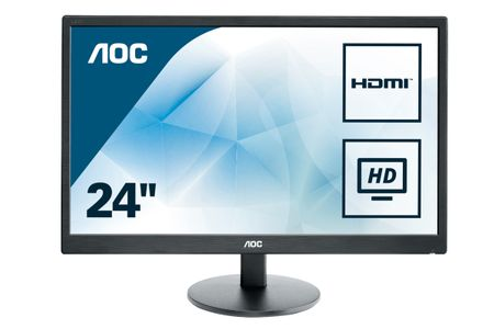 AOC 59,9cm (23, 6)e2470Swh  16:09 DVI+HDMI LED black Spk.1ms (E2470SWH)