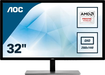 "AOC 31,5"" LED FreeSync Q3279VWF 2560x1440,  5ms, 3000:1, VGA/ DVI/ HDMI/ DP (Q3279VWF)"