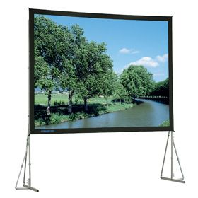 Da-Lite HD Fast-Fold Deluxe 305x396 Video (4:3) Matte White