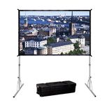 Da-Lite Fast-Fold Deluxe Surface 264x356 Video (4:3) Dual Vision