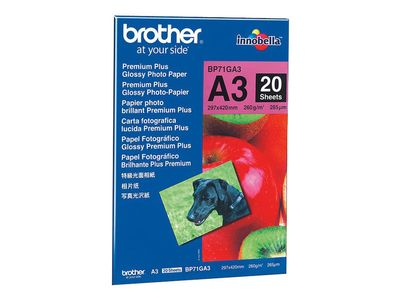 BROTHER Paper/ Photo Glossy A3 20sh 260g/m2 (BP71GA3)