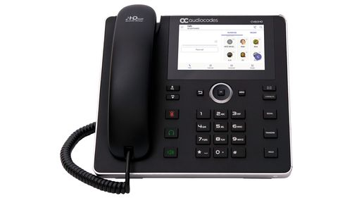 AUDIOCODES TEAMS C450HD IP-Phone PoE GbE with integrated BT and WiFi and an external power supply black (TEAMS-C450HDPS-BW)
