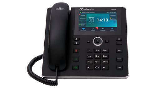 AUDIOCODES SFB C450HD IP Phone PoE GbE with integrated BT and WiFi and an external power supply black (UC-C450HDEPSG-BW)