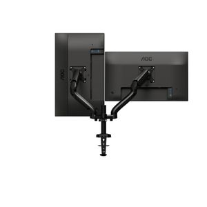 AOC Dual monitor arm clamped to desks holds (AD110D0)